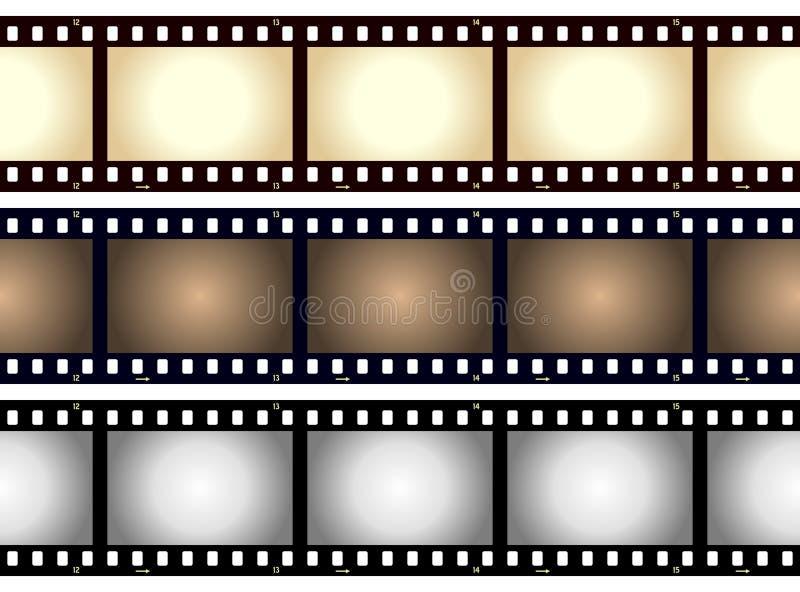 Blocco per grafici in bianco della striscia della pellicola dell'annata royalty illustrazione gratis