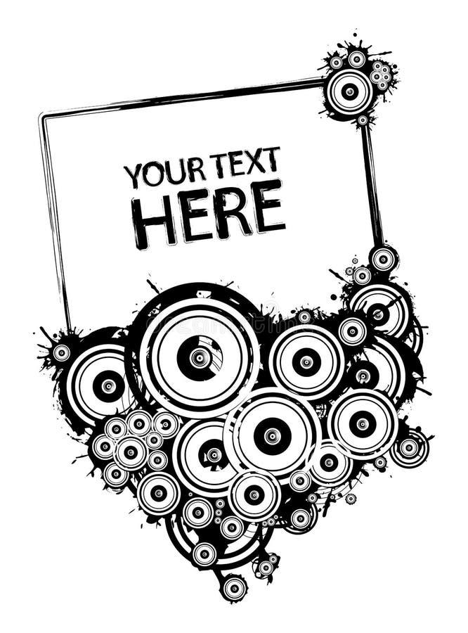 Blocco per grafici in bianco e nero del grunge illustrazione di stock