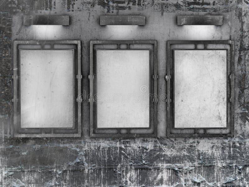 Blocco per grafici in bianco in galleria illustrazione vettoriale