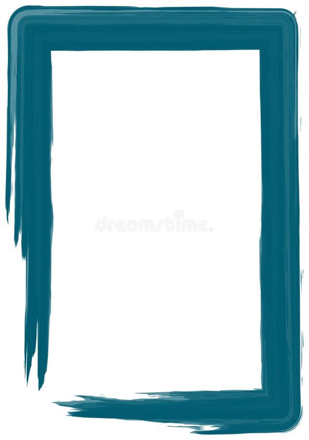 Blocco per grafici blu della vernice illustrazione di stock