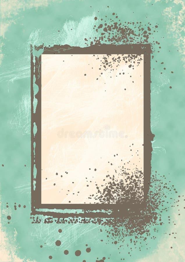 Blocco per grafici blu di Grunge illustrazione di stock
