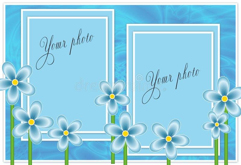 Blocco per grafici blu per la foto illustrazione vettoriale