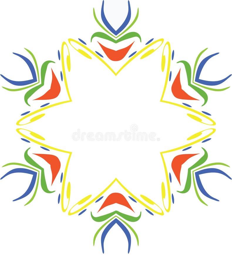 Blocco per grafici capriccioso del bordo di Mardi Gras immagine stock