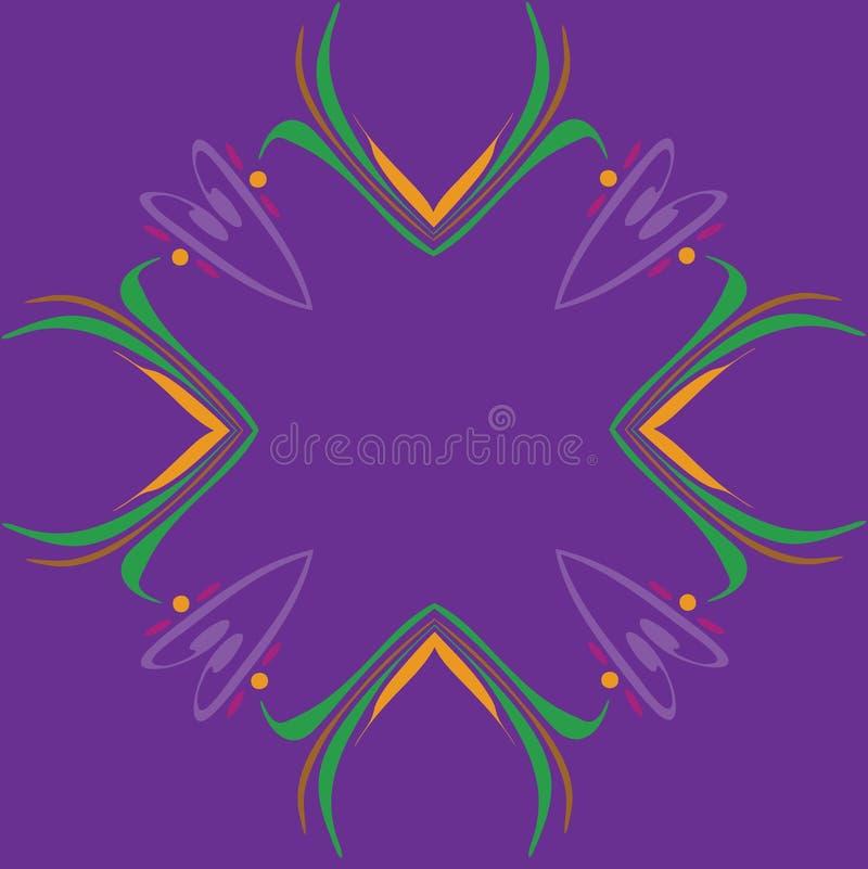 Blocco per grafici capriccioso del bordo di Mardi Gras fotografie stock libere da diritti