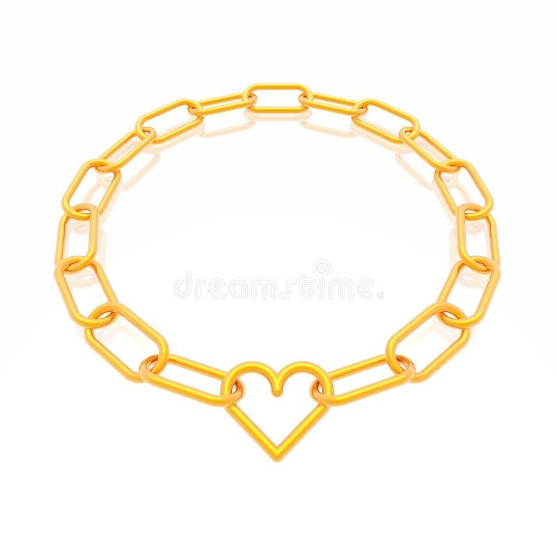 Blocco per grafici Chain con cuore illustrazione di stock