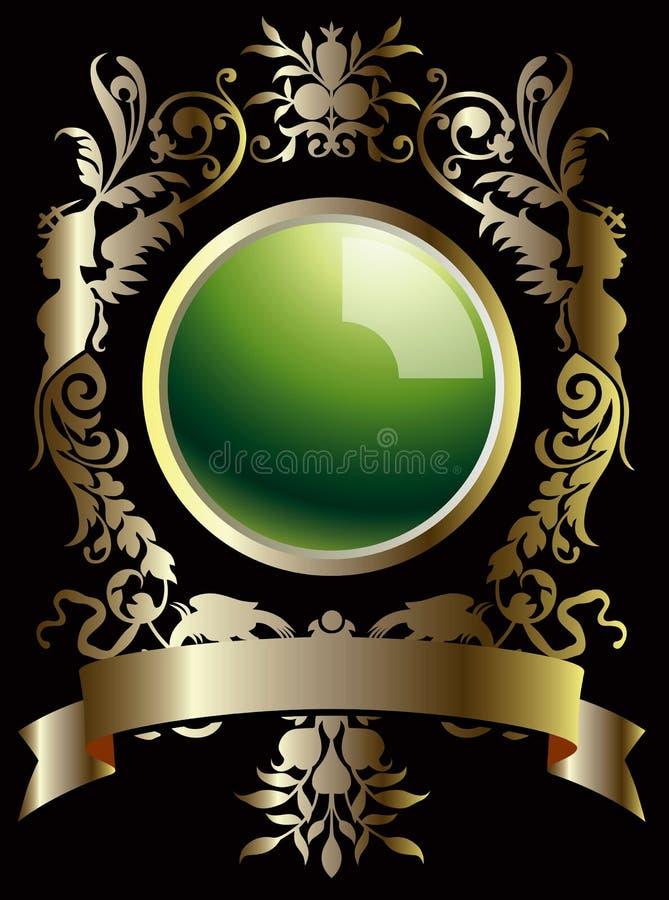 Blocco per grafici classico con la perla royalty illustrazione gratis