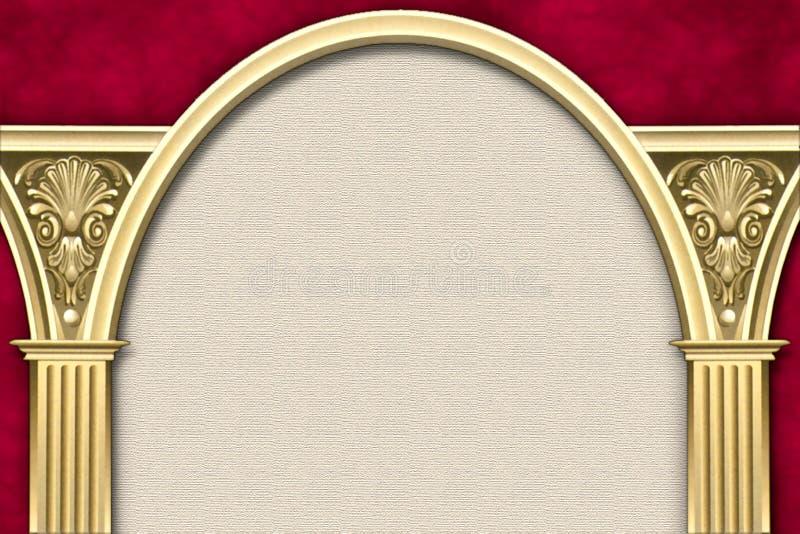Blocco per grafici classico dell'arco & della colonna immagine stock libera da diritti