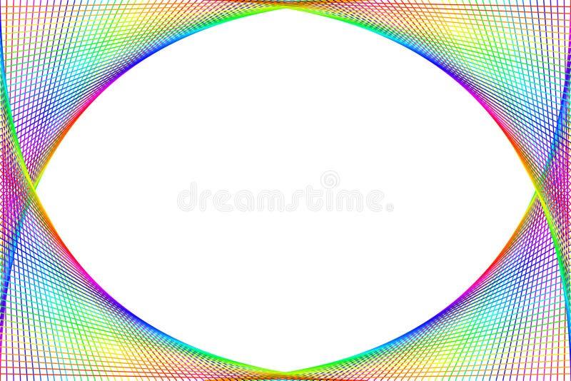 Blocco per grafici Colourful di spettro illustrazione di stock