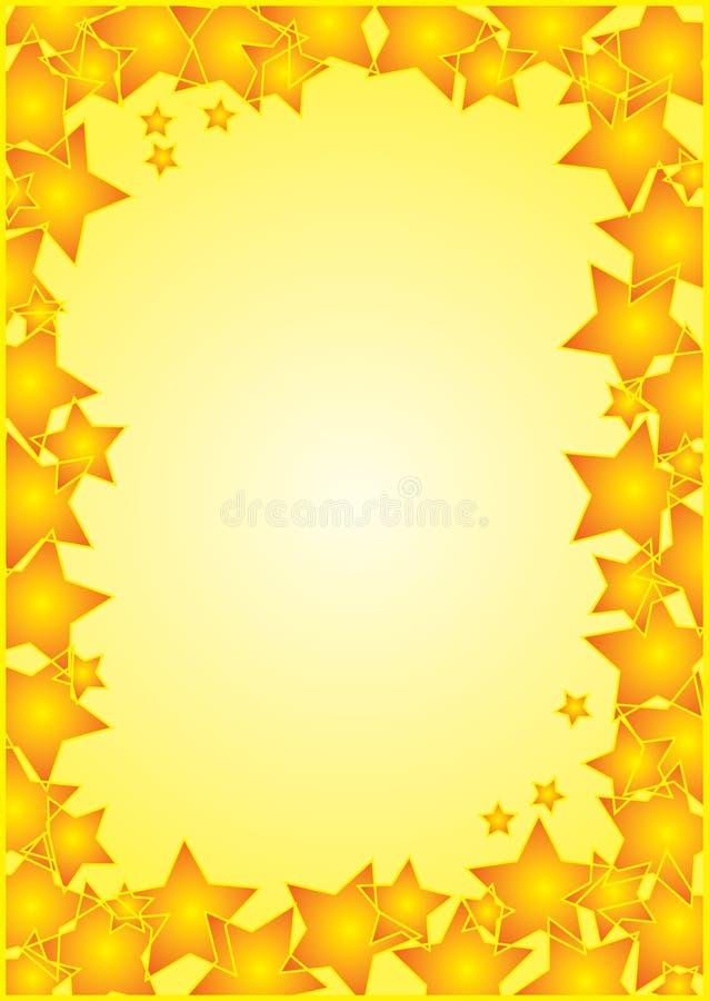 Blocco per grafici con il bordo delle stelle royalty illustrazione gratis