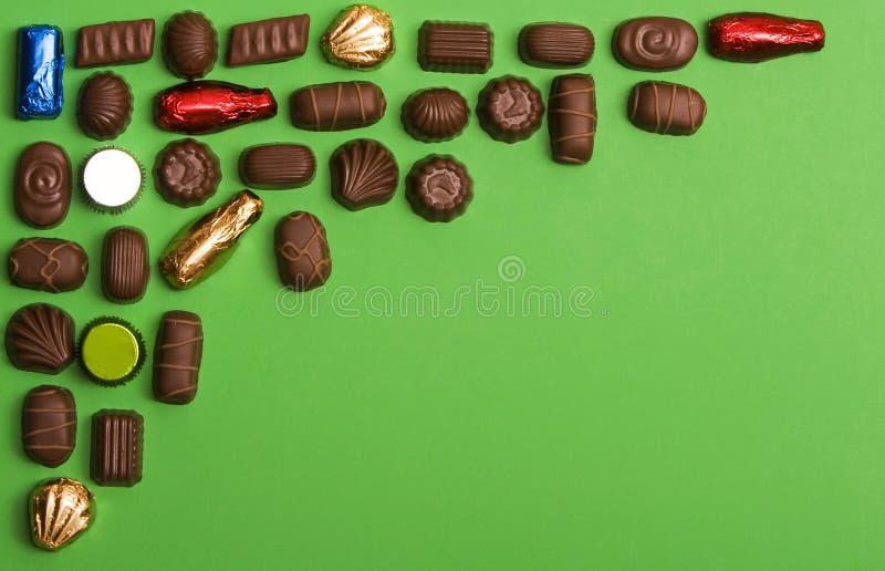 Struttura d'angolo del cioccolato fotografia stock