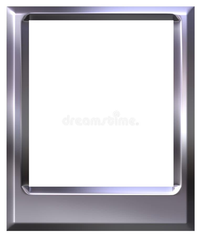 blocco per grafici d'argento della foto 3D illustrazione vettoriale