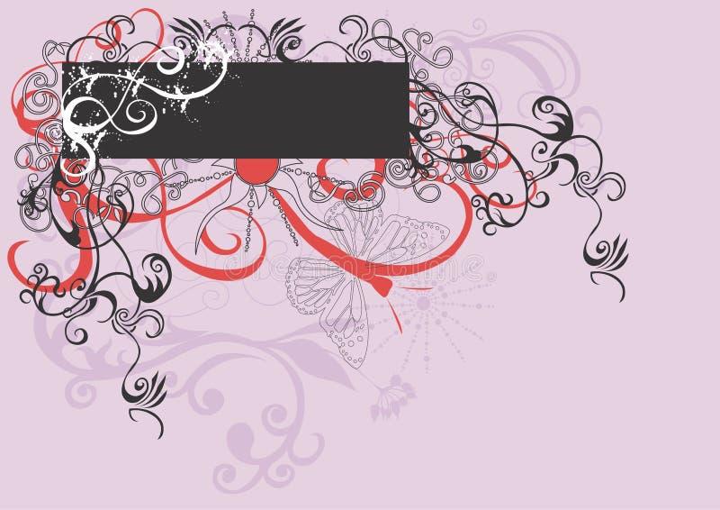 Blocco per grafici decorativo illustrazione di stock