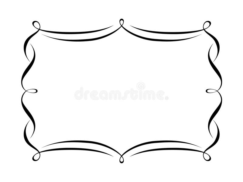 Blocco per grafici decorativo di calligrafia royalty illustrazione gratis