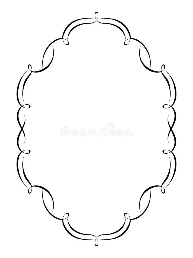 Blocco per grafici decorativo di calligrafia illustrazione vettoriale