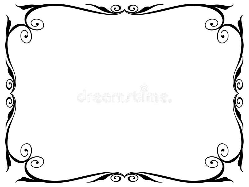 Blocco per grafici decorativo ornamentale di calligrafia illustrazione di stock