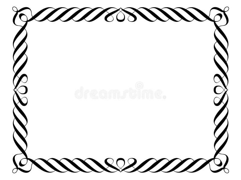 Blocco per grafici decorativo ornamentale di calligrafia royalty illustrazione gratis