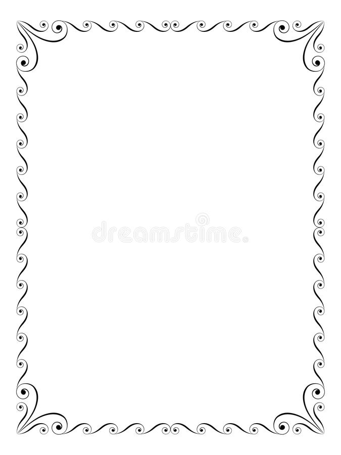 Blocco per grafici decorativo ornamentale di calligrafia illustrazione vettoriale