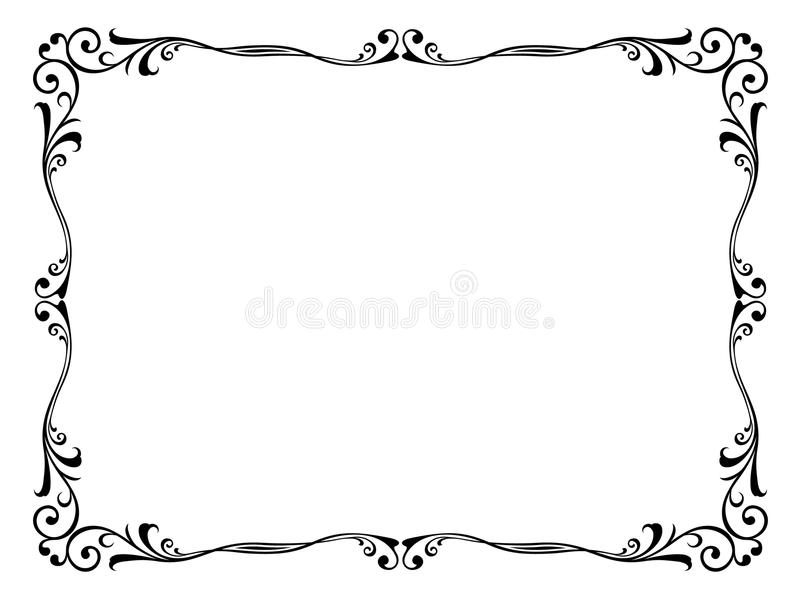 Blocco per grafici decorativo ornamentale floreale royalty illustrazione gratis