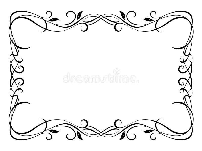 Blocco per grafici decorativo ornamentale floreale illustrazione di stock
