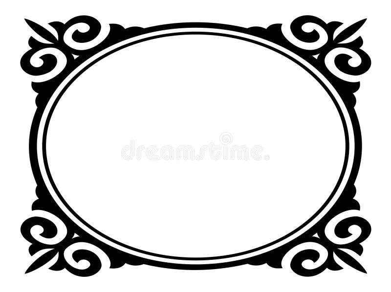 Blocco per grafici decorativo ornamentale ovale illustrazione vettoriale