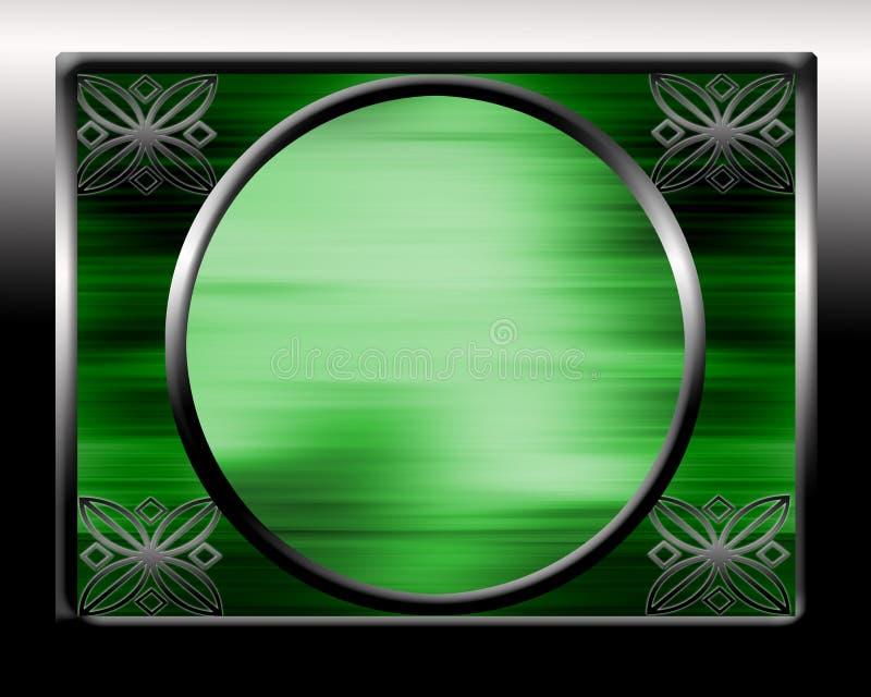 Blocco per grafici decorato del bordo fotografie stock libere da diritti