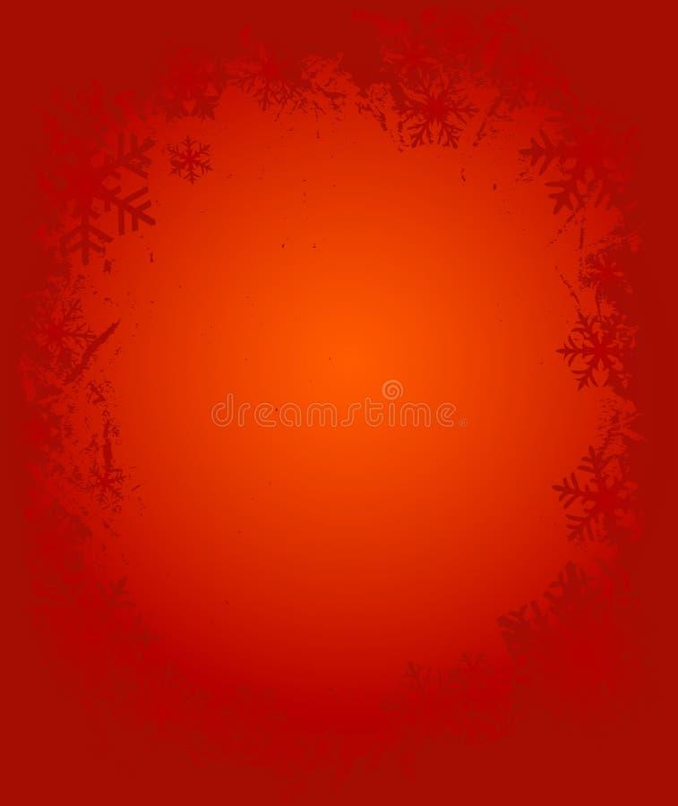 Blocco per grafici dei fiocchi di neve di Grunge royalty illustrazione gratis