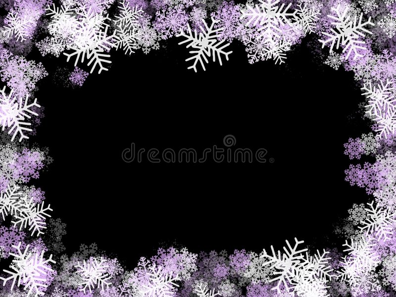 Blocco per grafici dei fiocchi di neve: viola illustrazione di stock
