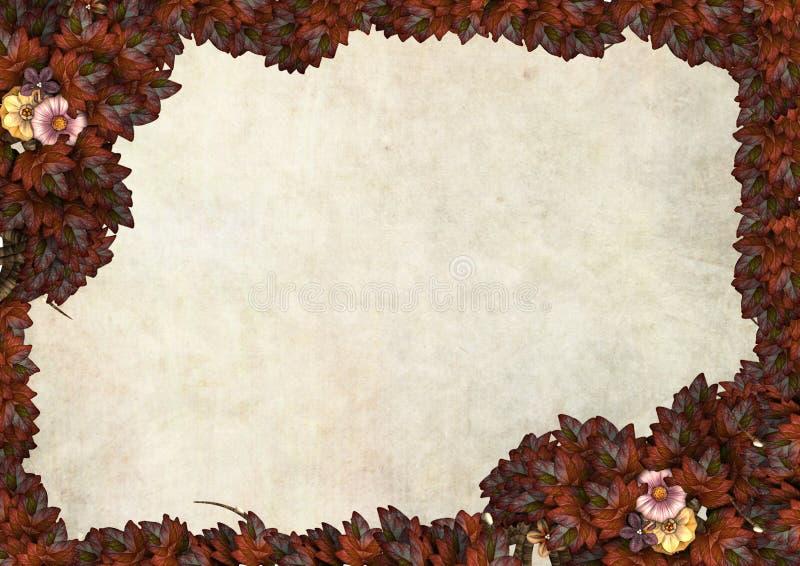 Blocco per grafici dei fogli di autunno per un messaggio illustrazione vettoriale