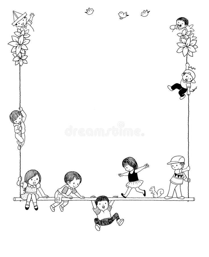 Download Blocco Per Grafici Del Bambino Illustrazione di Stock - Illustrazione di carnival, gioco: 7300570