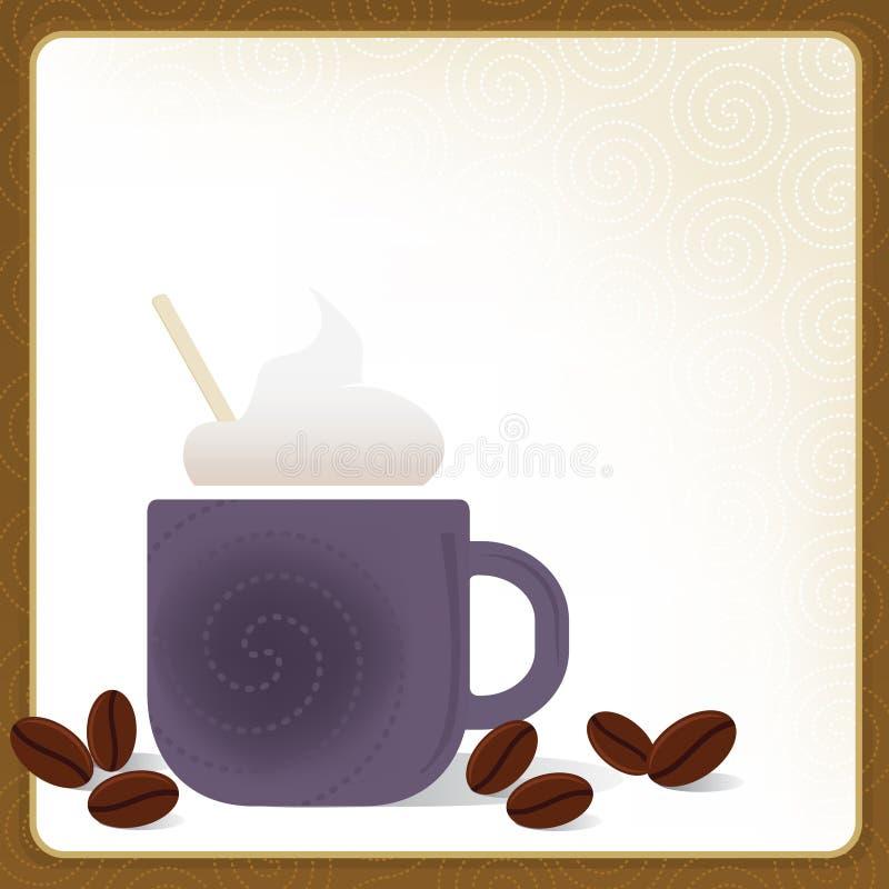 Blocco per grafici del Cappuccino illustrazione di stock