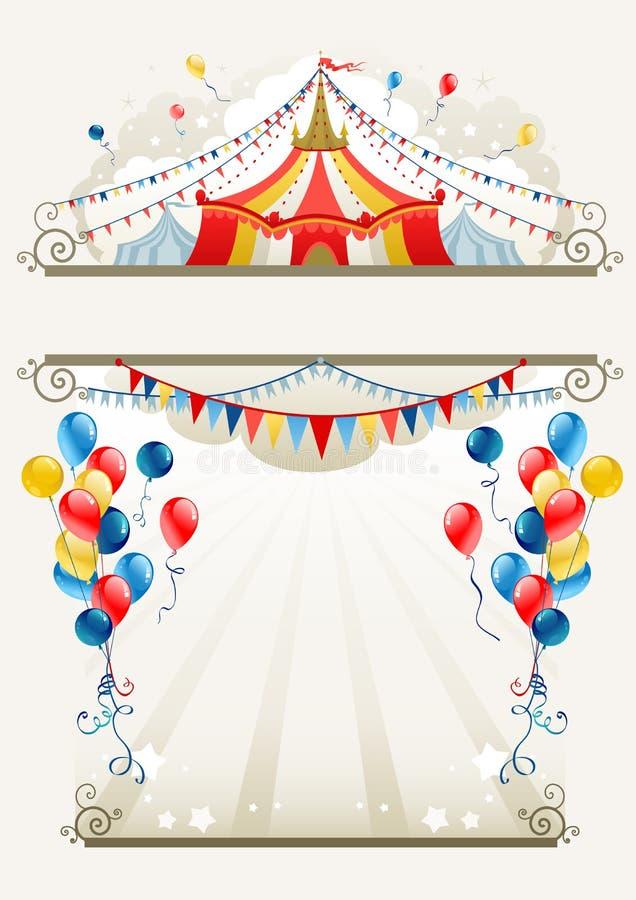 Blocco per grafici del circo illustrazione di stock