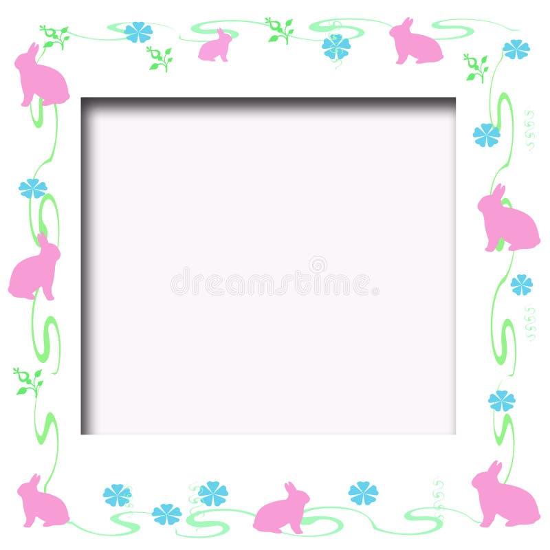 Blocco per grafici del coniglietto di pasqua illustrazione di stock