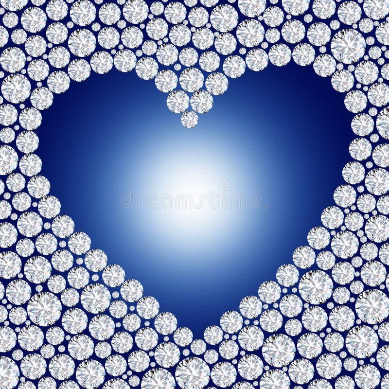 Blocco per grafici del cuore del diamante illustrazione di stock