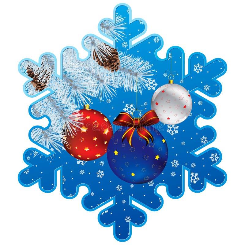 Blocco per grafici del fiocco di neve di natale illustrazione di stock