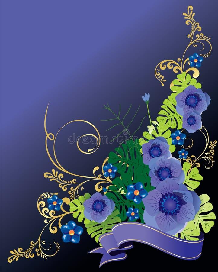 Blocco per grafici del fiore fotografie stock libere da diritti