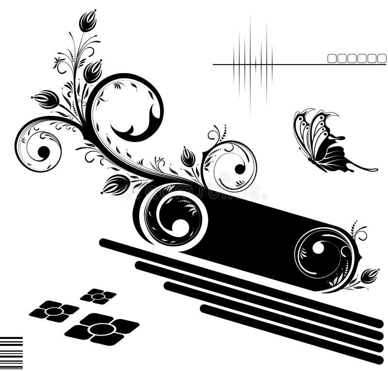 Blocco per grafici del fiore illustrazione vettoriale
