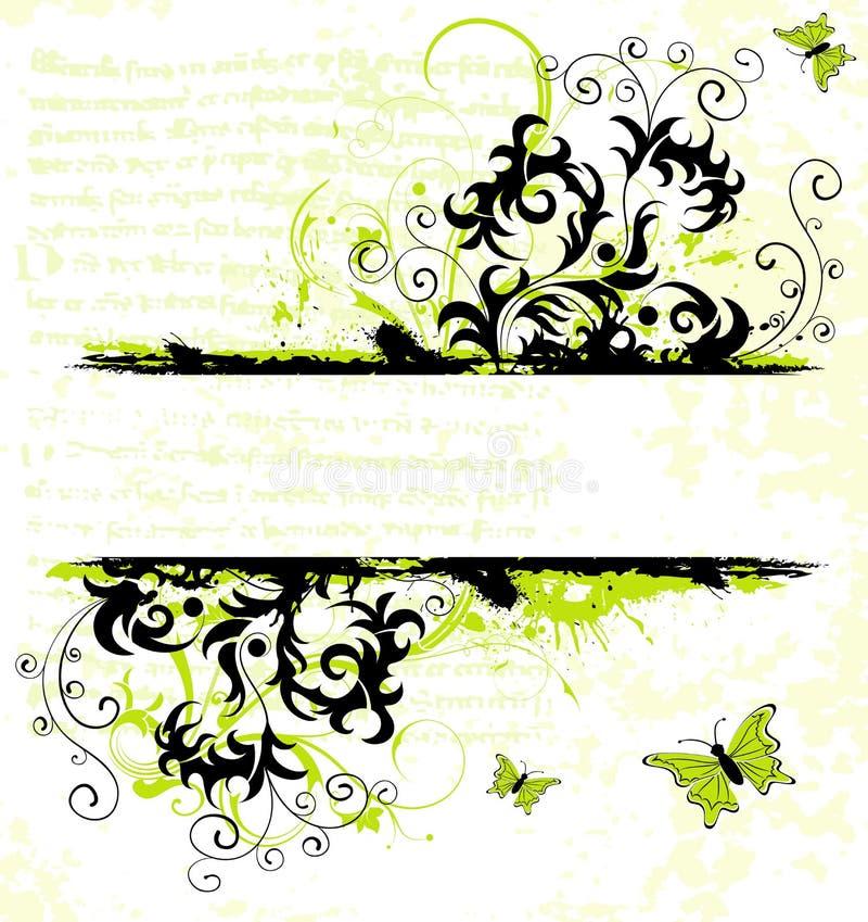 Blocco per grafici del fiore di Grunge illustrazione vettoriale
