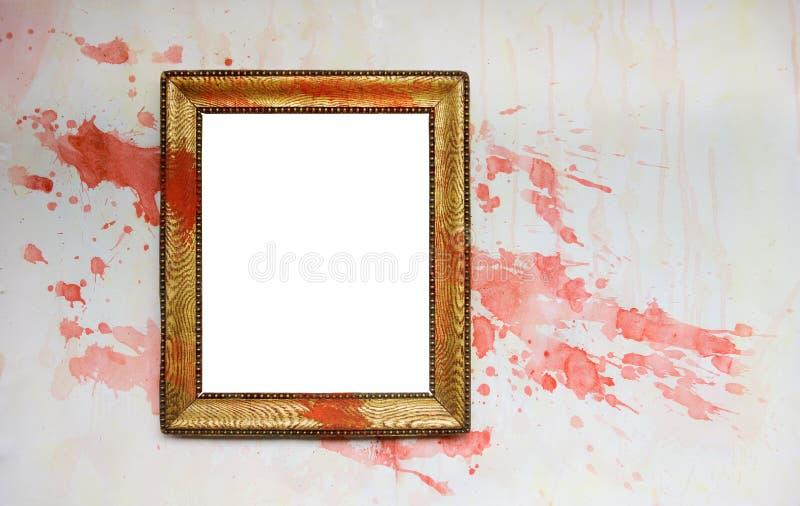 Blocco per grafici del grunge dell'annata con gli splatters della vernice fotografie stock