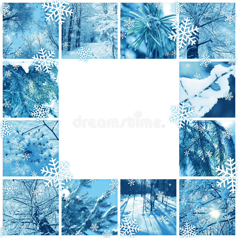 Blocco per grafici del mosaico di inverno illustrazione vettoriale