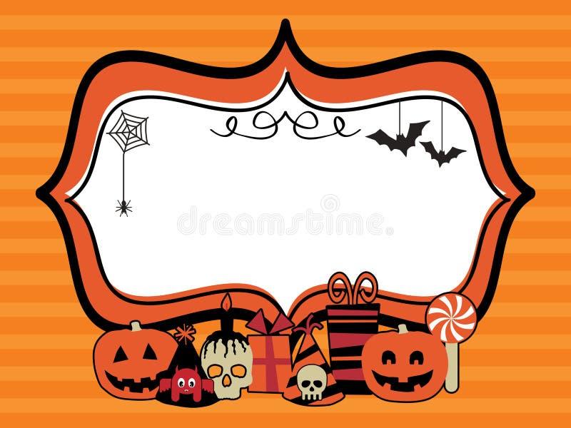 Blocco per grafici del partito di Halloween illustrazione vettoriale