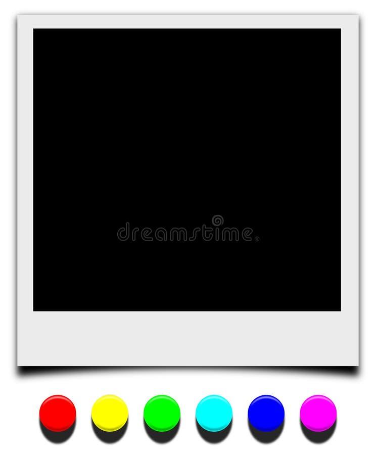Blocco per grafici del Polaroid con il chiodo dell'a pressione royalty illustrazione gratis