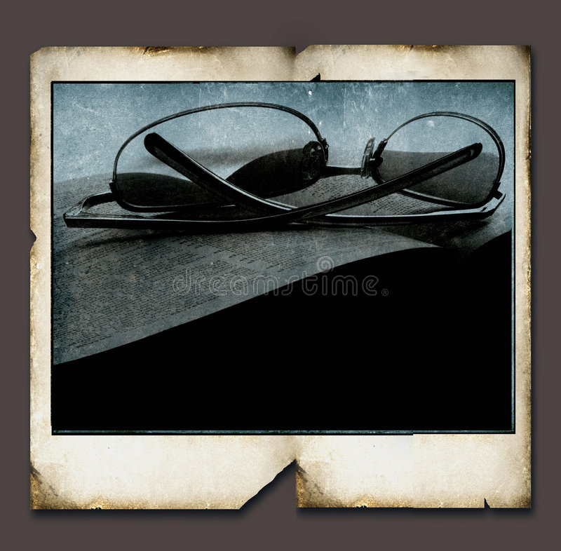 Blocco per grafici del Polaroid dell'annata royalty illustrazione gratis