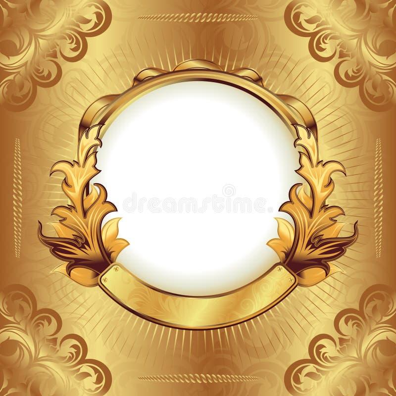 Blocco per grafici dell'annata dell'oro illustrazione di stock