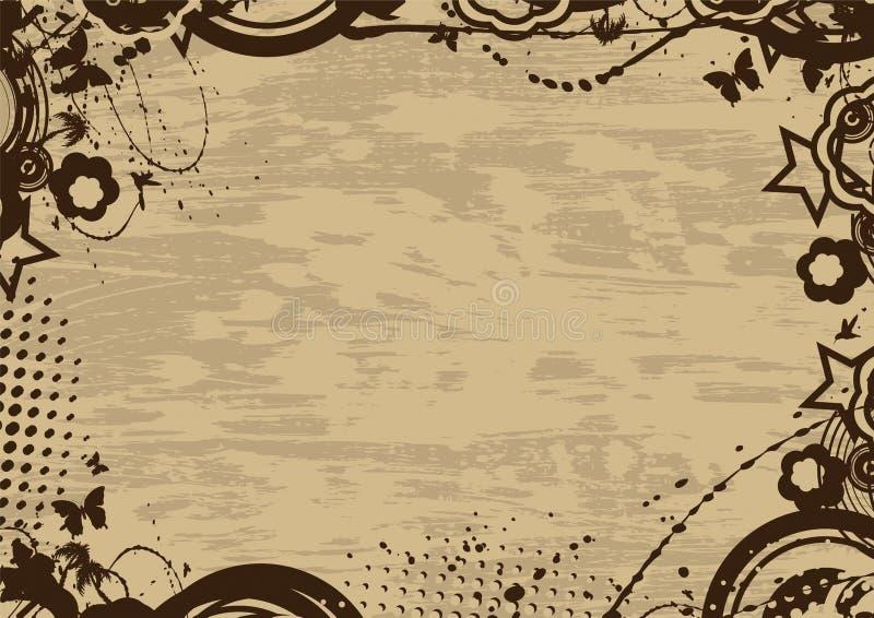 Blocco per grafici dell'annata di Grunge illustrazione vettoriale