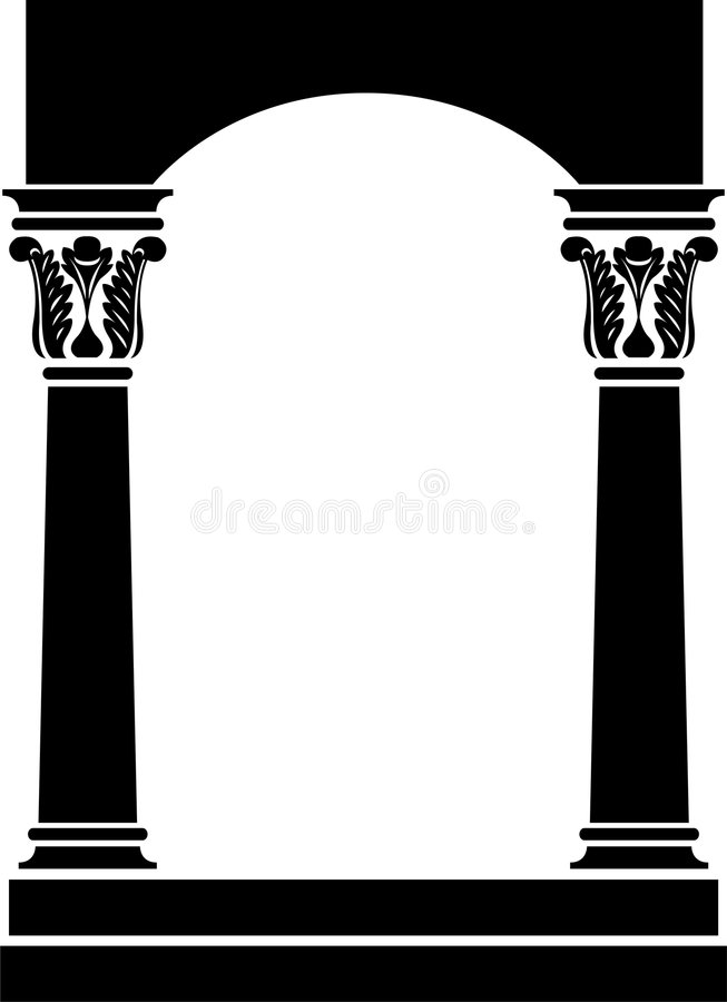 Blocco per grafici dell'arco della colonna royalty illustrazione gratis