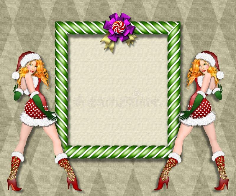 Blocco per grafici dell'assistente della Santa sexy illustrazione di stock