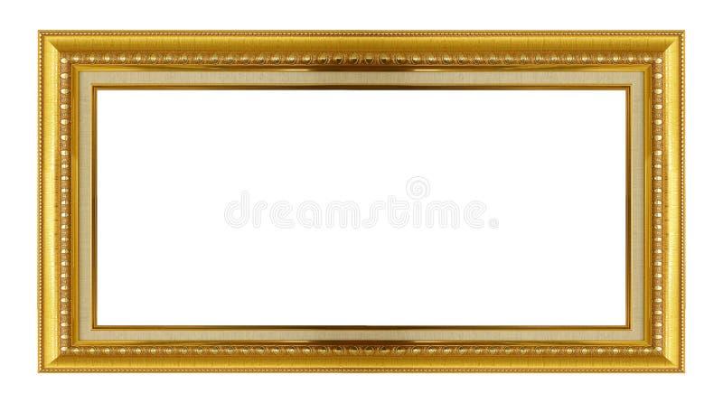 Blocco per grafici dell'oro Isolato su bianco fotografia stock