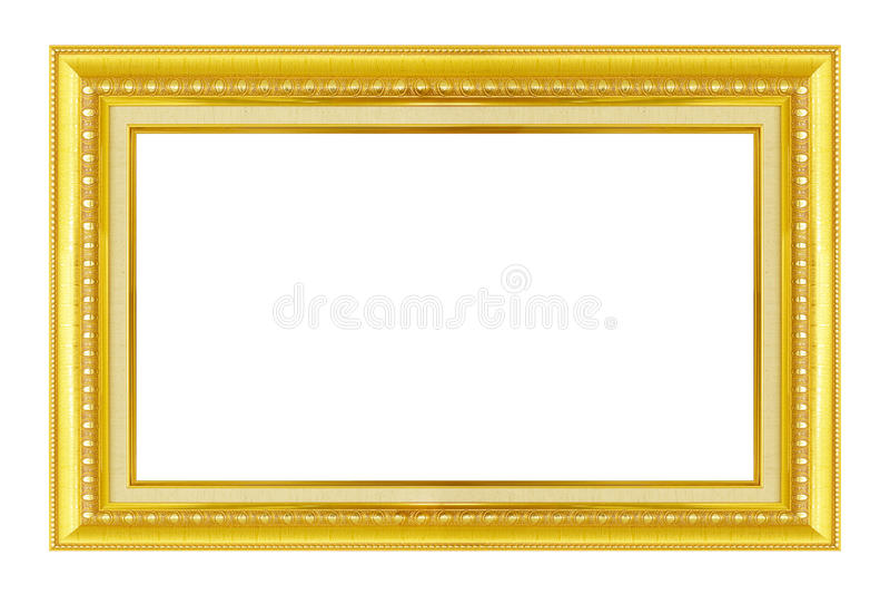 Blocco per grafici dell'oro L'oro/ha dorato le arti ed elabora la cornice del modello immagini stock libere da diritti