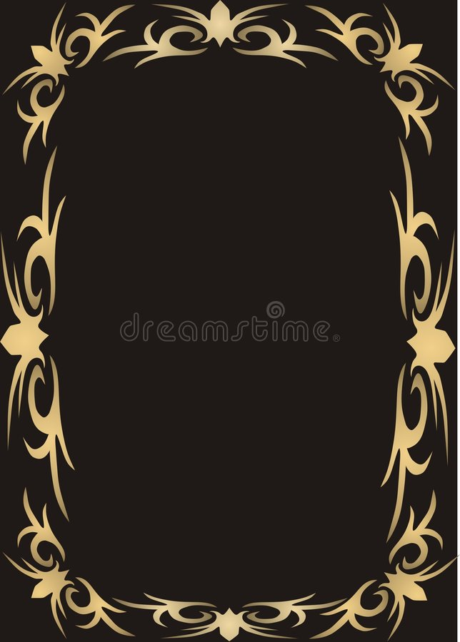Blocco per grafici dell'oro su priorità bassa nera royalty illustrazione gratis