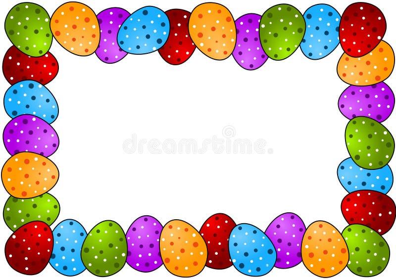 Blocco per grafici dell'uovo di Pasqua dei punti di Polka royalty illustrazione gratis